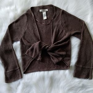 Cropped Knit Cardigan S/P